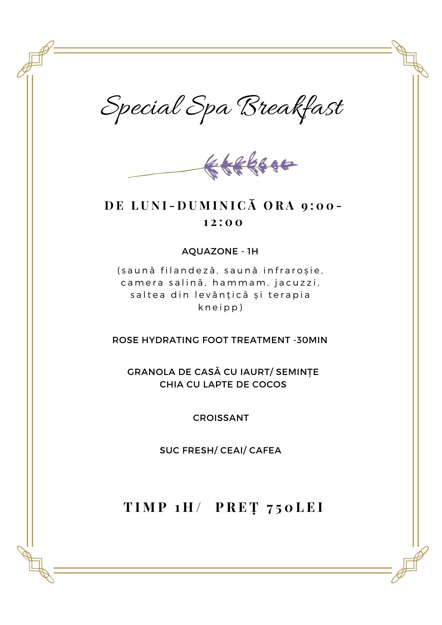 Special Spa Breakfast